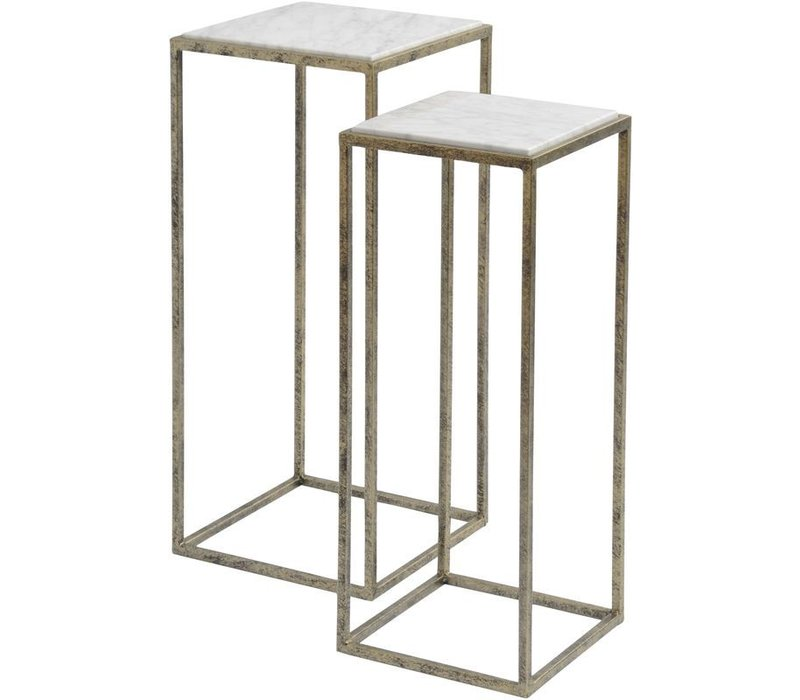 Mylas Marble Set Of 2 Side Tables