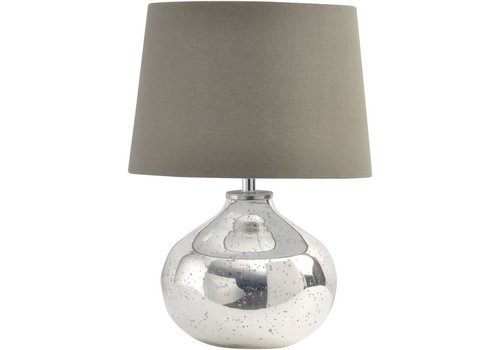 Homestore Antique Silver Ovate Glass Lamp
