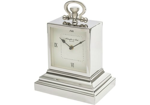 Homestore Latham Extra Small Aluminium Rectangular Clock with Roman Numerals