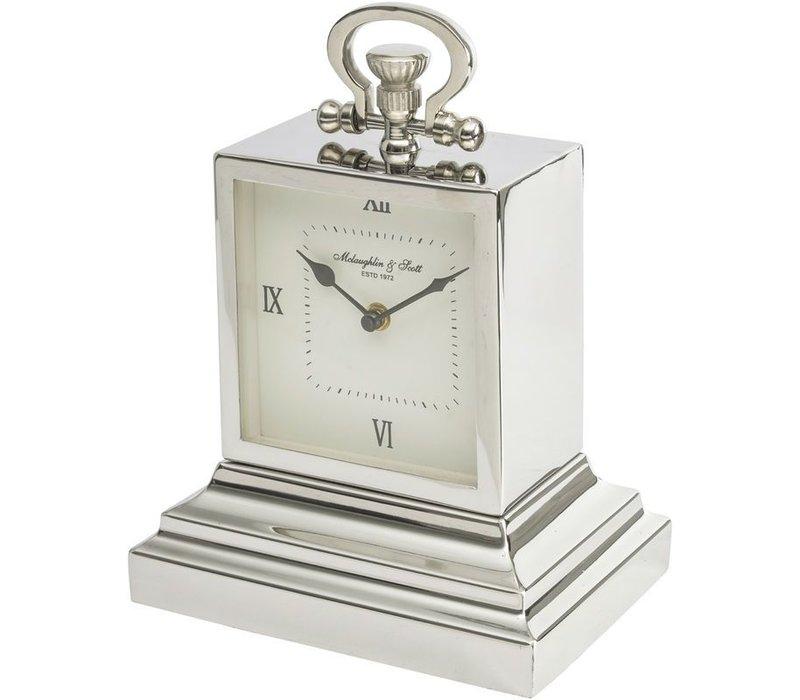 Latham Extra Small Aluminium Rectangular Clock with Roman Numerals