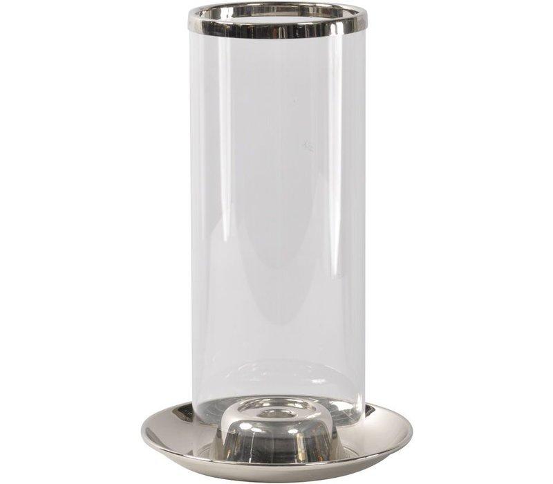 Rushford Nickel Plated Candle Holder Hurricane