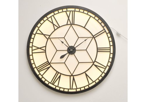 Homestore Oversized Backlit Wall Clock