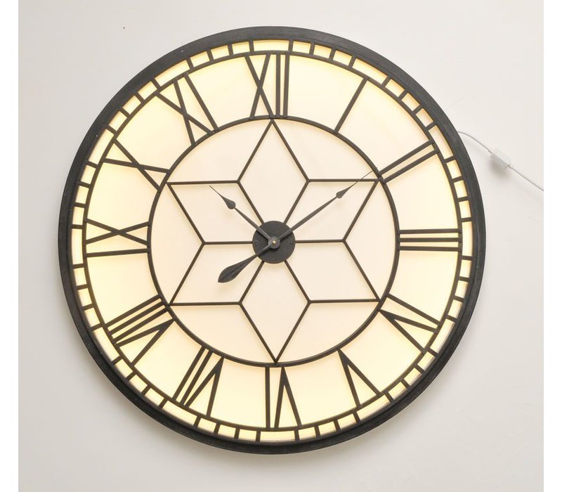 Oversized Backlit Wall Clock