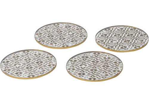 Homestore Vienna Antique Gold Set Of 4 Diamond Coasters