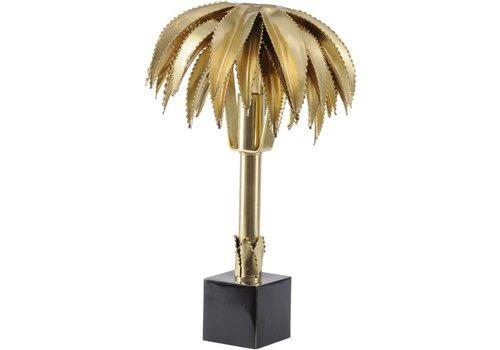 Homestore Polished Brass Palm Tree Small Lamp E14 25W