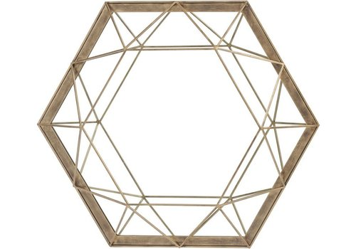 Homestore Platonic Antique Gold Mirror