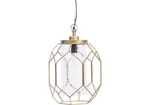 Homestore Large Antique Gold Platonic Pendant