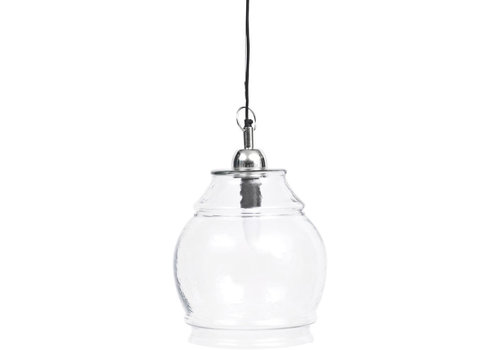 Homestore Clear Glass And Nickel Glass Pendant E27 60W