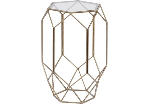 Homestore Platonic Antique Gold Side Table