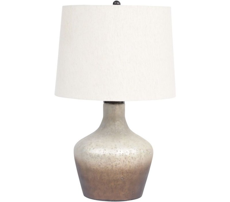 Ombre Bottle Table Lamp With Natural Shade