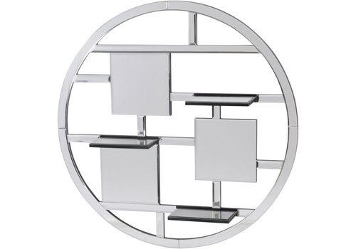 Homestore Blakely Round Mirrored Shelf