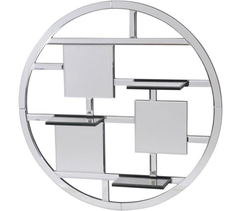 Blakely Round Mirrored Shelf