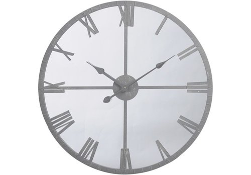Homestore Grey Framed Mirrored Wall Clock