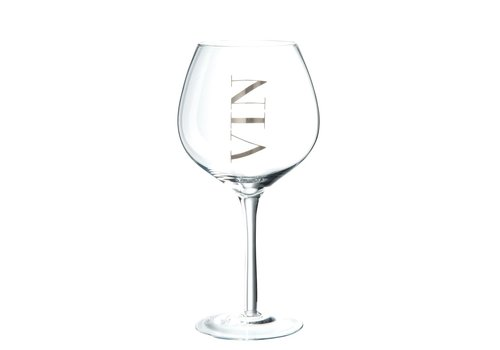 Homestore WINE GLASS RED WINE - SILVER