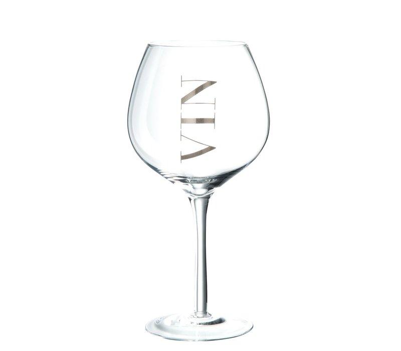 WINE GLASS RED WINE - SILVER