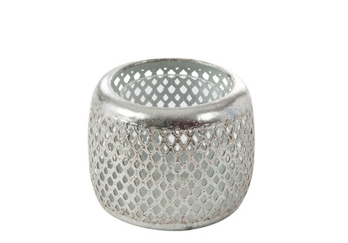 Homestore CANDLE HOLDER GRID SILVER