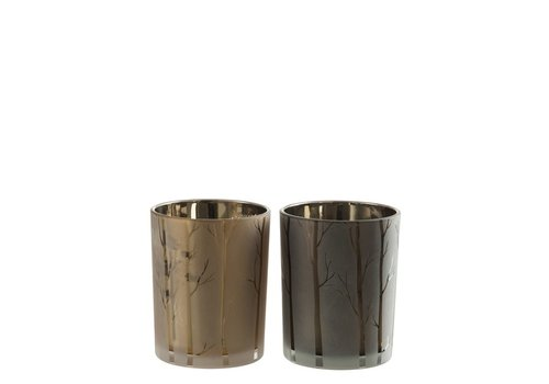 Homestore HURRICANE TREE GLASS GREEN & GOLD - Small