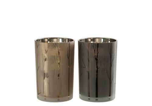 Homestore HURRICANE TREE GLASS GREEN & GOLD - Medium
