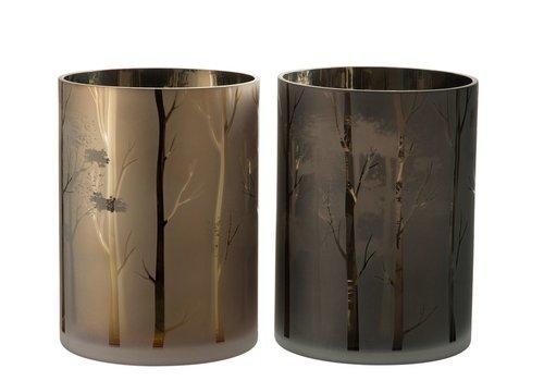 Homestore HURRICANE TREE GLASS GREEN & GOLD - Large