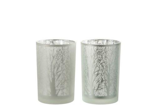 Homestore TEA-LIGHT TREE GLASS WHITE - Large