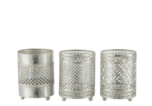 Homestore TEA-LIGHT HOLDER ORIENTAL METAL & GLASS