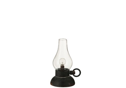 Homestore LAMP LED BATTERY in METAL & GLASS - Small