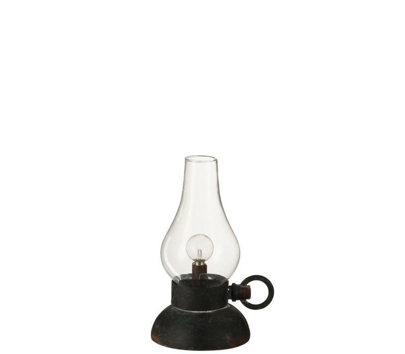 LAMP LED BATTERY in METAL & GLASS - Small