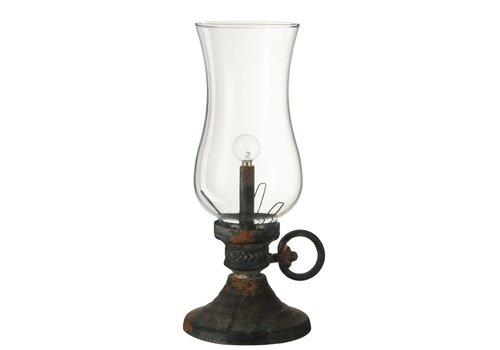 Homestore LAMP LED BATTERY TEO in METAL GLASS