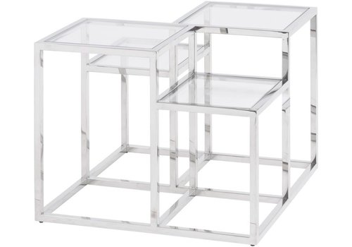 Homestore Gatsby Square Stainless Steel Side Table