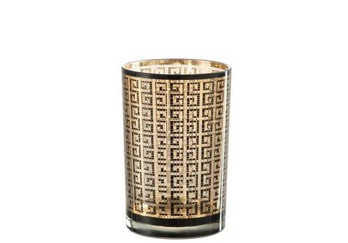 Homestore HURRICANE MODERN GLASS BLACK & GOLD (L)