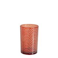 HURRICANE PATTERN GLASS RED L