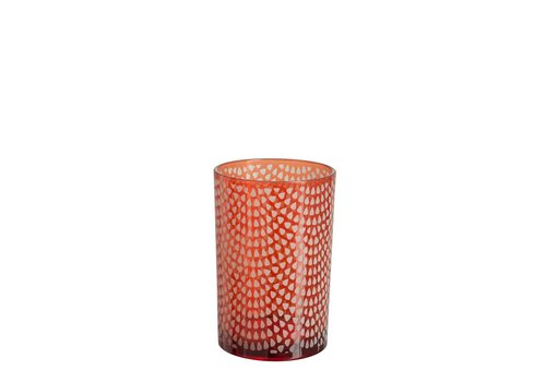 Homestore HURRICANE PATTERN GLASS RED L