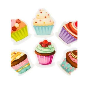 Vlakgum cupcakes