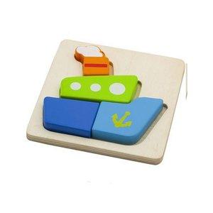Houten puzzel boot