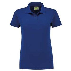Lemon & Soda L&S unisex polo Basic Mix 60 graden slim-fit mouwen royal blue