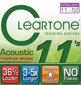 Cleartone 7411 Staalsnarig gitaarsnaren Phosphor Bronze Extra Light