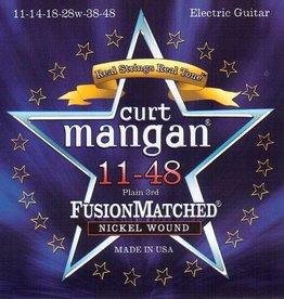 Curt Mangan 11148 Elektrisch gitaarsnaren Nickel 11-48