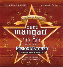 Curt Mangan 31050 Staalsnarig gitaarsnaren Phosphor Bronze Extra Light