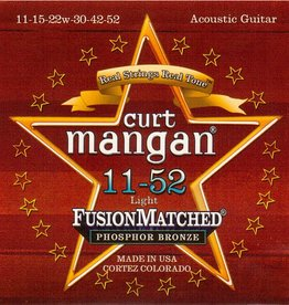 Curt Mangan 31152 Staalsnarig gitaarsnaren Phosphor Bronze Light