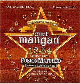 Curt Mangan 31254 Staalsnarig gitaarsnaren Phosphor Bronze Medium Light