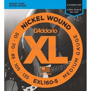 D'Addario EXL160-5 Snaren Nickel Wound Medium