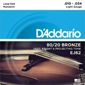 D'Addario EJ62 Mandoline snaren 80/20 Bronze