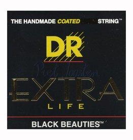 DR Strings BKA-10 Staalsnarig gitaarsnaren Extra-Life Black Beauties Lite