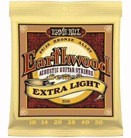Ernie Ball 2006 Staalsnarig gitaarsnaren Earthwood 80/20 Bronze Extra Light