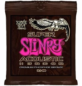 Ernie Ball 2148 Staalsnarig gitaarsnaren Phosphor Bronze Super Slinky