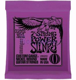 Ernie Ball 2620 7-Snarige elektrische gitaarsnaren Nickel Wound Power Slinky