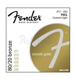 Fender 70CL Staalsnarig gitaarsnaren 80/20 Bronze Custom Light