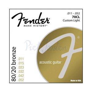 Fender 70CL Snaren 80/20 Bronze Custom Light
