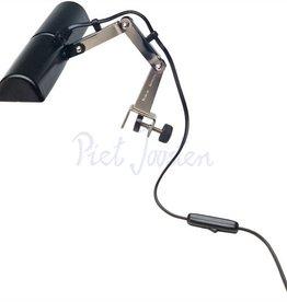 K&M 122/6 Lessenaarlamp dubbel Black-Chrome