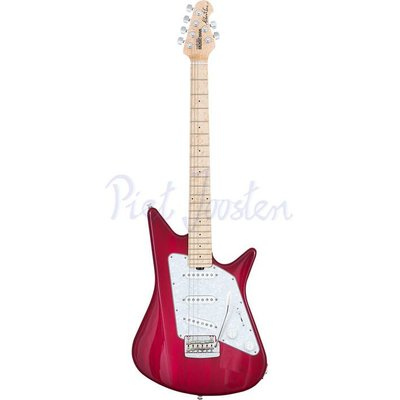 Music Man Albert Lee Elektrisch gitaar Tremolo Pink Burst +Case
